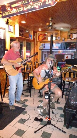 Market Place Steak House & More: Watching Tom Bradey!