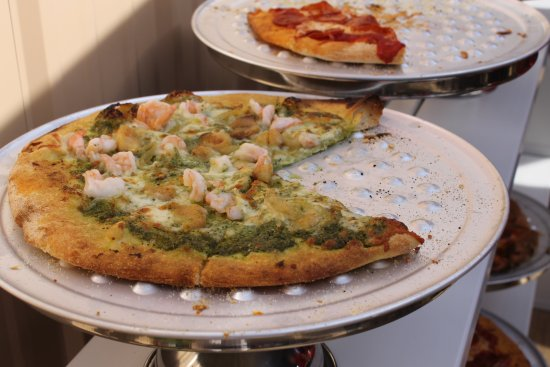 Pizza at Battle Lake Boathouse