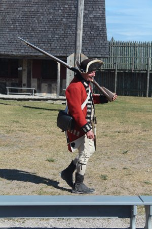 Colonial Michilimackinac: Musket firing demonstration