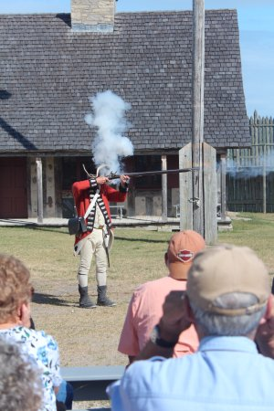 Colonial Michilimackinac: Musket firing