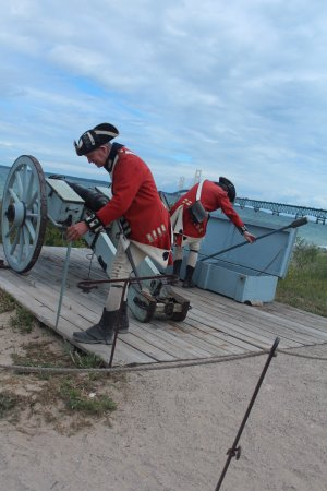 Colonial Michilimackinac: Canon firing demonstration