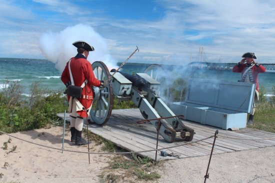 Colonial Michilimackinac: Firing the canon