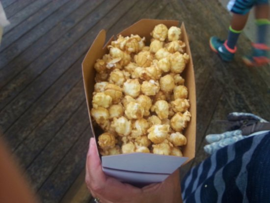 """Fisher's Popcorn : Gotta get a box to eat while walking """"the boards"""""""