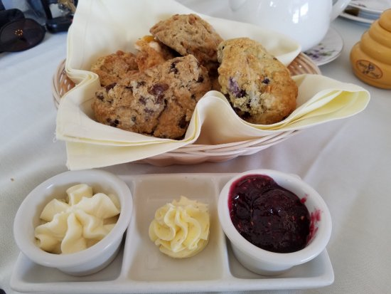 Rockville Centre, NY: A must have...end the meal with tea & scones! Yum and really moist!
