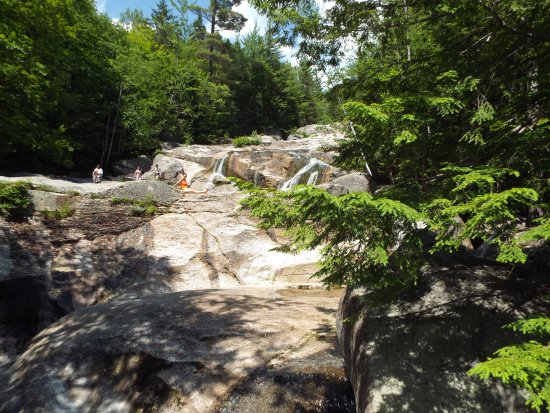 Newry, ME: View up the falls