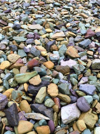 Ballyferriter, Ireland: area by the boat launch, with colorful rocks