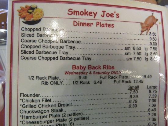 Lexington, Carolina del Norte: BBQ items