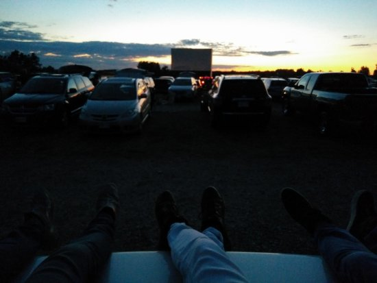 Mustang Drive-In: Sitting on top of our car (trunk)