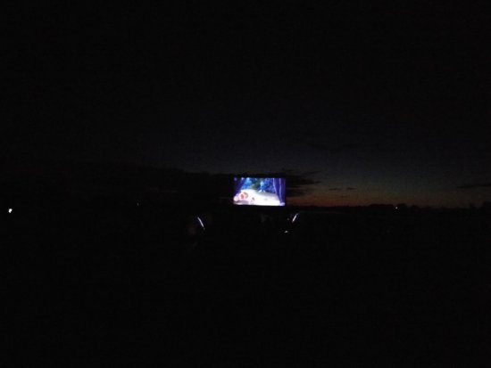 Mustang Drive-In: Watching movie once it gets darker