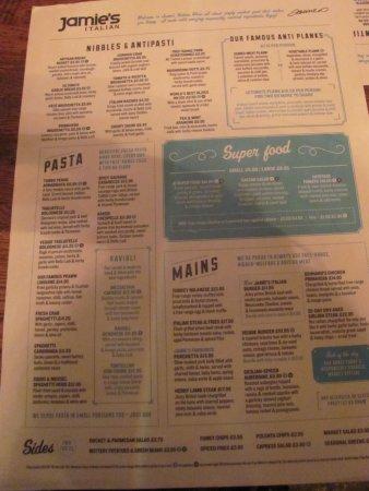Jamie Oliver's Italian: The menu