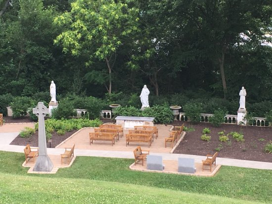 National Shrine Grotto Of Lourdes: Dubois Seton Garden With Statues Of The  Virgin Mary