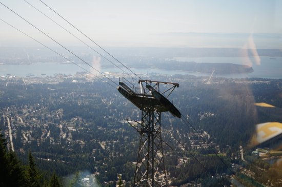 Kuzey Vancouver, Kanada: View from our ascending gondola