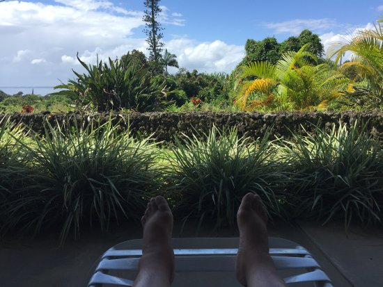 Island Goode's: view from chairs out by Hilo Room