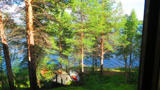 Enontekiö, ฟินแลนด์: la vue de notre chambre