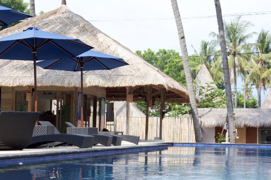 Gili Air, Indonesien: The freediving shop with it's 20m pool