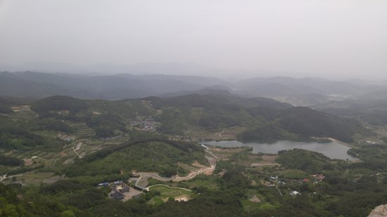 Hapcheon-Gun, Южная Корея: The view from one of the peaks