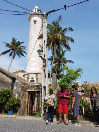 Galle Fort Lighthouse: Close up of the light house