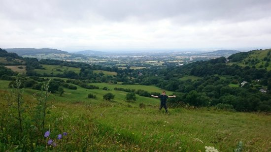 Birdlip, UK: Great views,steep hills to get up and down,quite scary but that was the fun in it