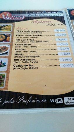 Jaguaruana: Restaurante o Afonso