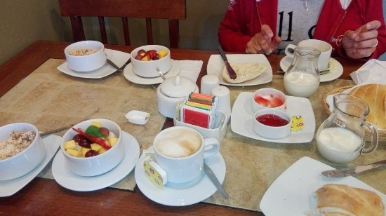 โรงแรมลอสแทมบอส: colazione SUPER