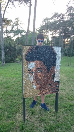 Parco Hemingway : Портреты из цветных камней