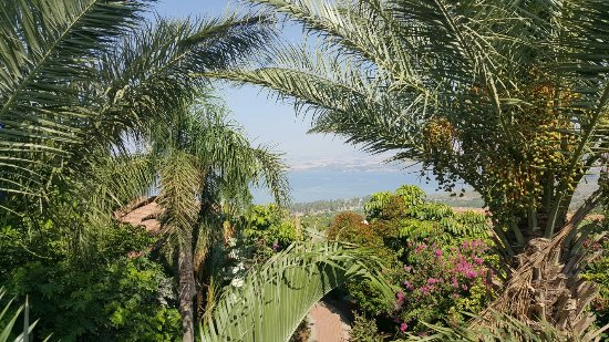 Luxury cabins on top of the sea of Galilee
