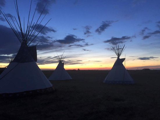 Browning, MT: sunset at Lodgepole