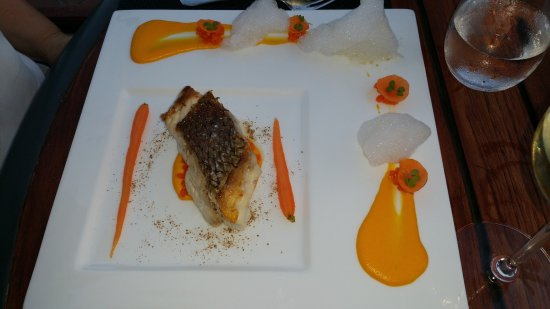 Sea Bream with foam and moroccan carrot