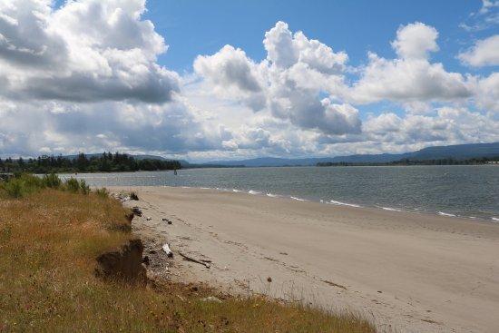 Skamokawa, Вашингтон: Columbia River beach at Vista Park