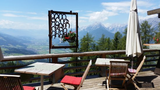 Hotel Grafenast: terrace with a view