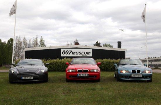 "Nybro, Sweden: BMW licence plate ""FLEMING"", BMW Z3 licence plate ""GOLDENEYE"","