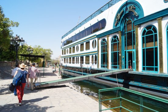 Habibitours - Day Tours: Embarking our Nile Cruise ship in Aswan.