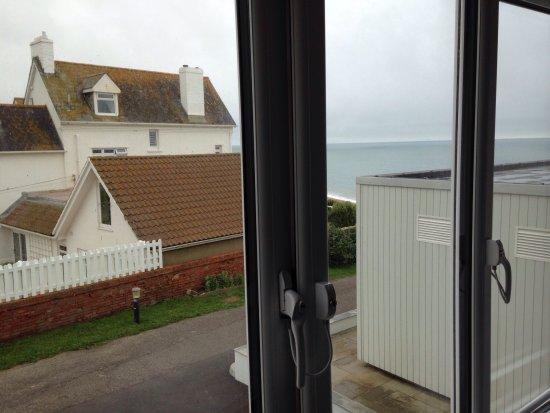 Burton Bradstock, UK: Not much of a view!