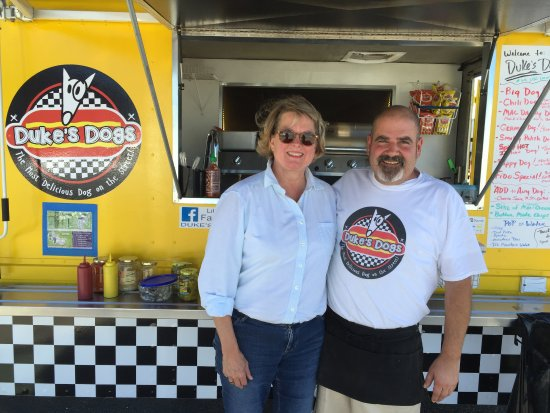 Cheboygan, MI: Me and Andrew at Duke's Dogs