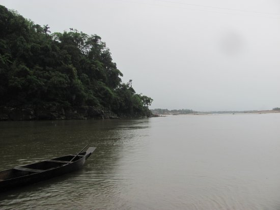 Meghalaya, India: Dawki river on a cloudy morning.