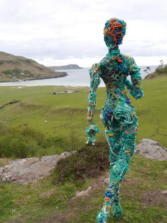 Calgary Art in Nature: Figure looks out over Calgary Bay