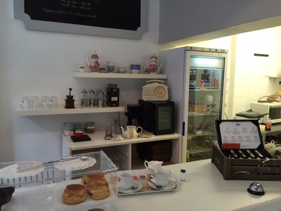 Bolton, UK: Counter, complete with cheap jar of jam left open.