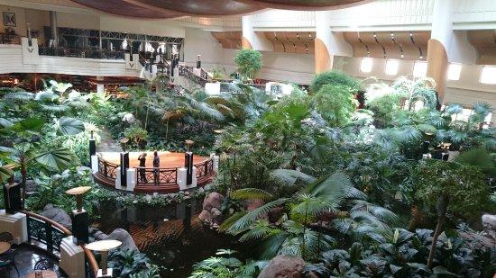 Indoor garten mit restaurants drum herum picture of grand hyatt dubai dubai tripadvisor - Indoor garten ...