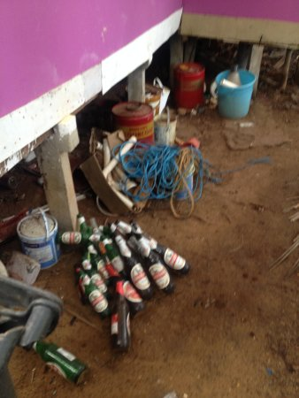 Patnem, India: Die Müllhalde direkt hinter dem Bungalow