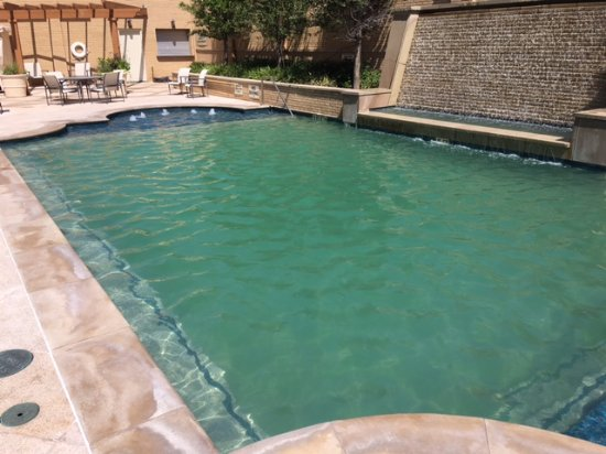 Big Spring, TX: Great pool area but over use from the weekend made it green!