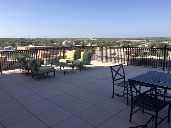 Big Spring, TX: Our private terrace off the Sunrise Suite -Fabulous!