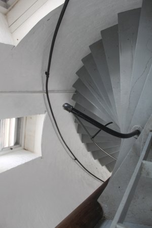Piney Point Lighthouse: Steep stairs lead to the top of lighthouse