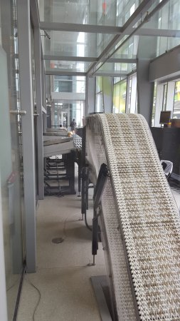 Montreal, Canada: book return conveyor belt