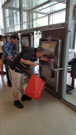 Montreal, Canada: putting materials into book return