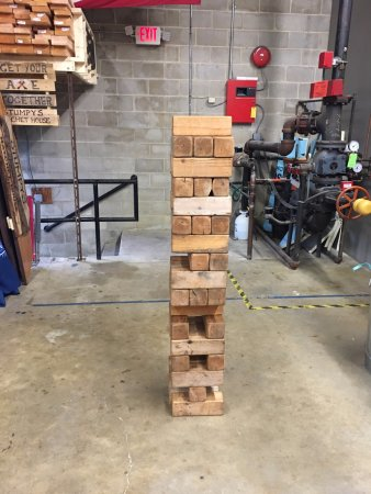 Eatontown, NJ: Giant Jenga game to play with.