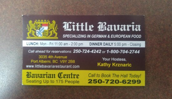 Little Bavaria Restaurant: Their Hours and Phone Number
