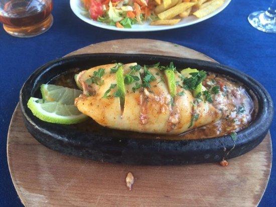 Bogaz, Cyprus: Calamari dolma