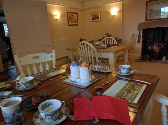 Dunster, UK: the dining room