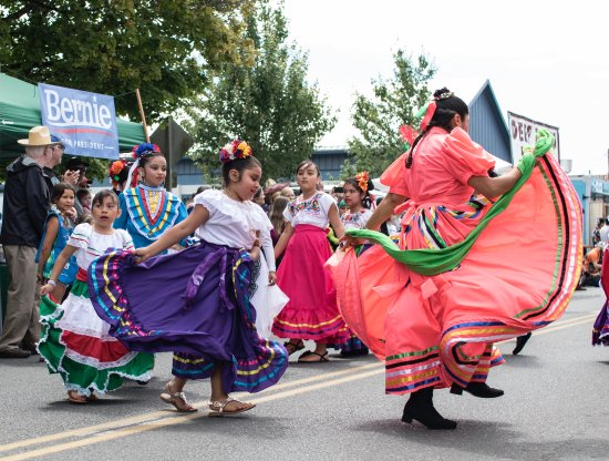 Young dancers at the Vashon Strawberry Festival