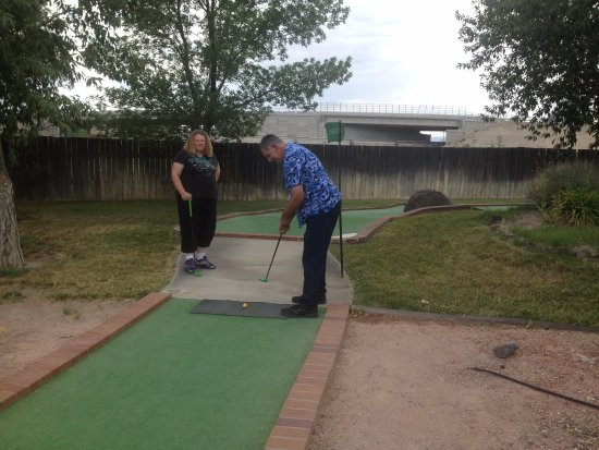Delta, CO: My dad concentrating on his putting skills